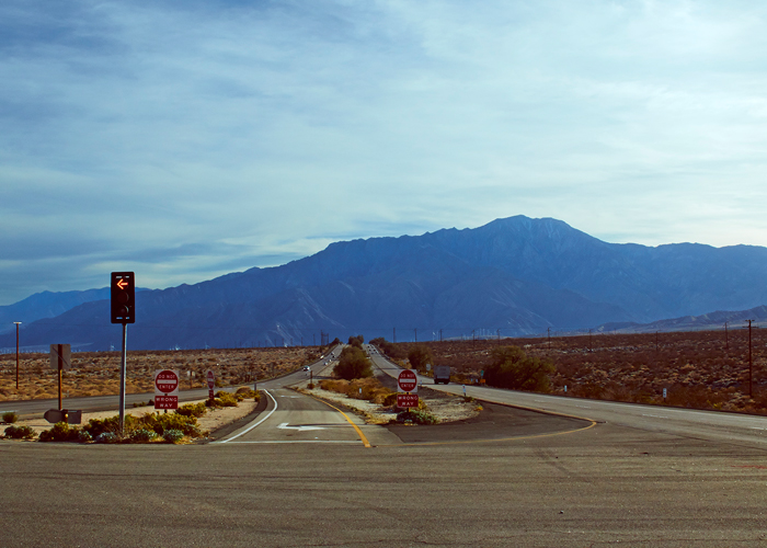 On the road: modern landscape