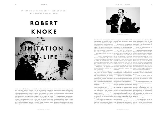 Imitation of Life. Interview with Artist Robert Knoke