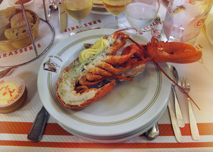 The Swedish Chef enjoys the last lobster of the season at Le Vapeurs, Trouville