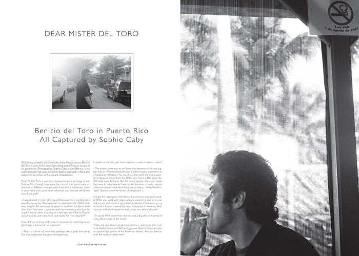 In Puerto Rico. Interview with Actor Benicio del Toro
