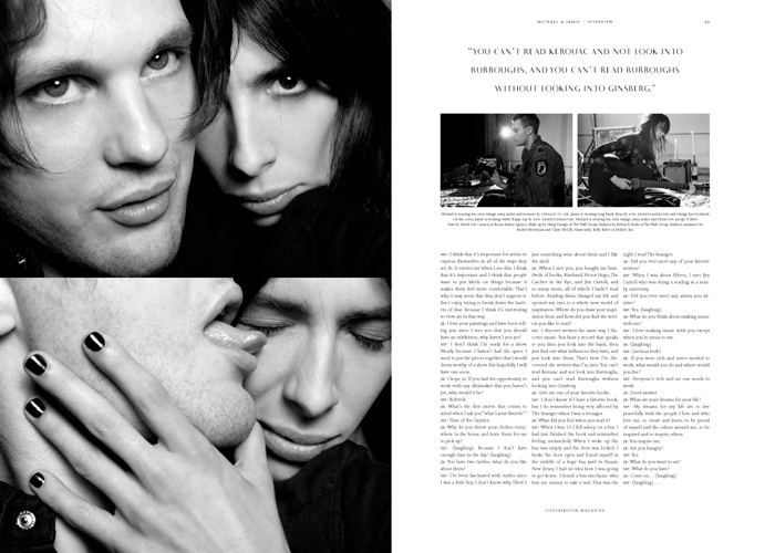Cover Story with Michael Pitt and Jamie Bochert