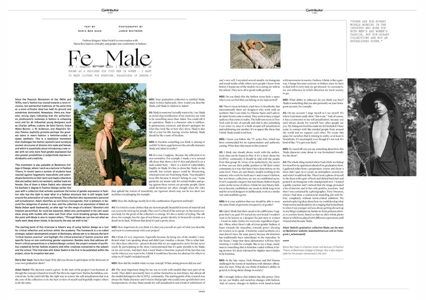 Fashion Designer Adam Sward In Conversation Maria Ben Saad Fashion